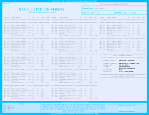 COLLEGE TRANSCRIPT TEMPLATE // T01-LIGHTBLUE