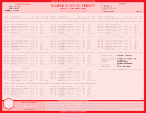COLLEGE TRANSCRIPT TEMPLATE // T04-RED