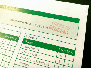 """""""Issued to Student"""" Academic Transcript Stamp"""