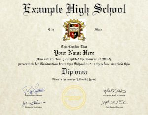 High School Diploma Design (HS-D01)