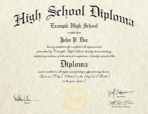 Fake High School Diploma Template (HS-D06)