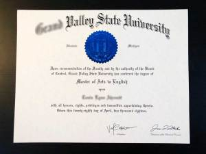 Fake State University Diploma
