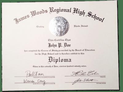 HS-D03 Fake High School Diploma Sample