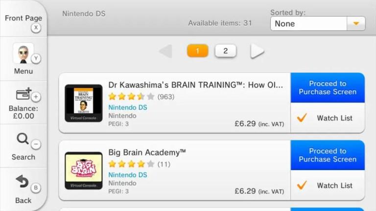 eShop Wii U guide