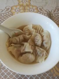 I had my dumplings in a chicken broth.