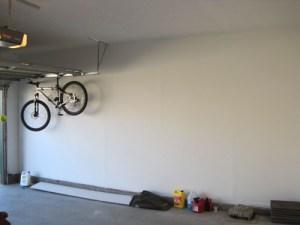 Pared del garaje terminada