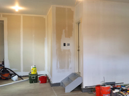Pintando garaje