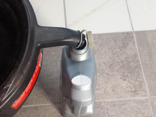 Reciclaje de aceite de motor