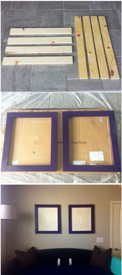 Cómo enmarcar paneles de papel tapiz - Cheapest House on the Block