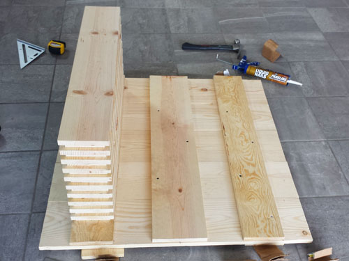 Mesa de centro de madera casera