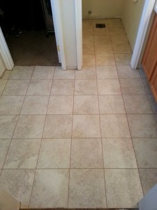 Master bath tile in place and grouted