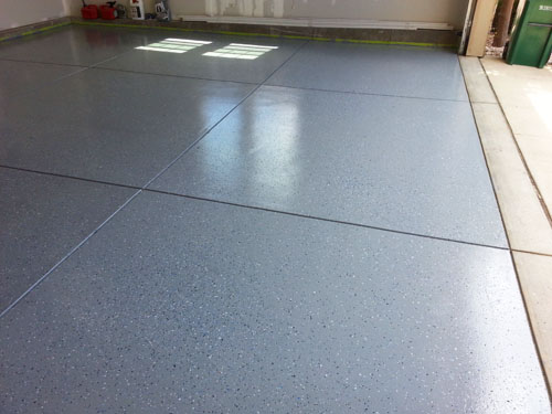 Right after I finished applying an epoxy floor coating to the garage floor