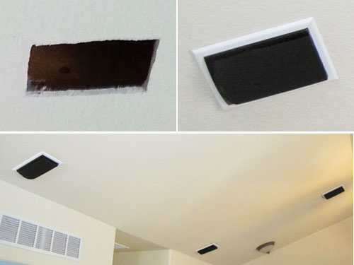 DIY home theater, surround Speakers in the ceiling