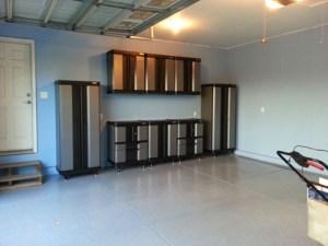 Installing storage cabinets in the garage