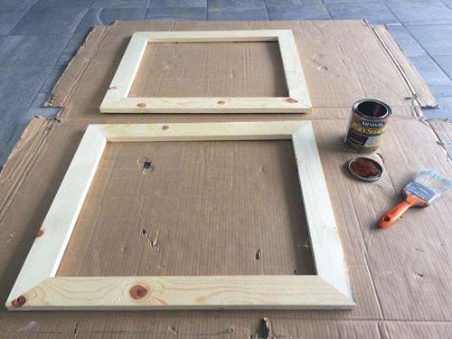 DIY cheap picture frames