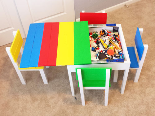 Kid Play Table With Storage