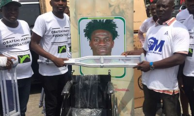 Obafemi Martins Foundation Donates Wheelchairs And Crutches To People With Disabilities. 4
