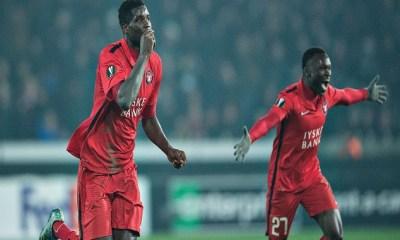 Paul Onuachu Superb Hat-trick Helps FC Midtjylland Thrash Sloppy Derry City 2