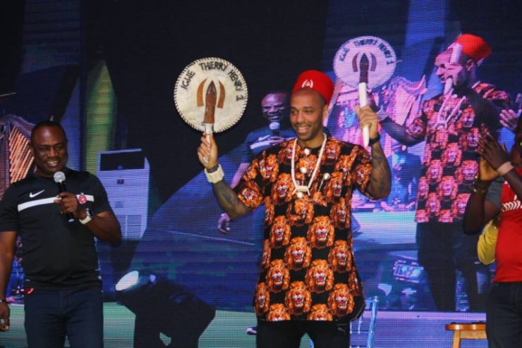 Arsenal Legend Thierry Henry Crowned Igwe In Nigeria, Unveiled As Guinness Ambassador 7
