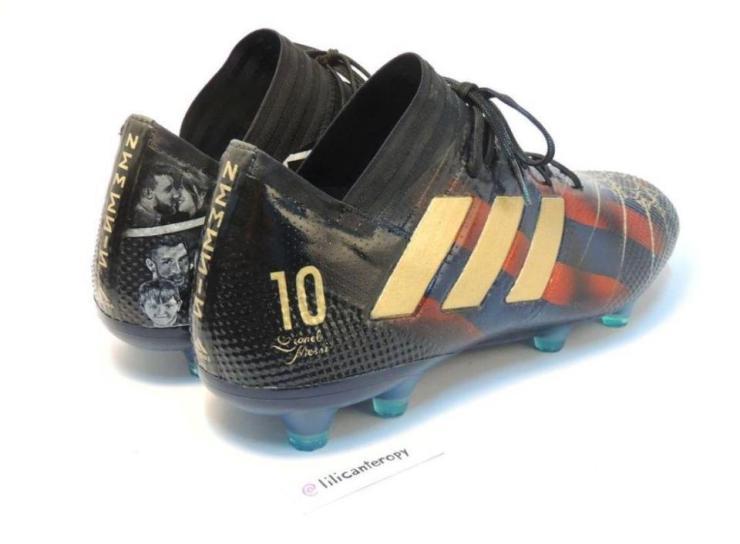 Stroke of Genius : Lili Cantero With A 'Da Vinci' Touch On Lionel Messi's New Boots 10