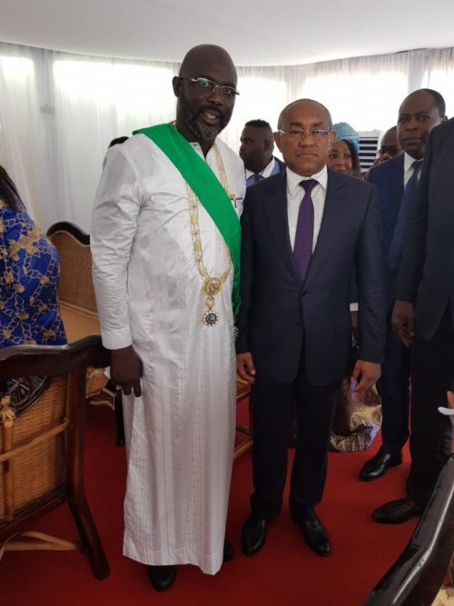 Ahmad, Kwesi Nyantakyi, Amaju Pinnick And Other Top Dignitaries Attend Weah's Inauguration 10