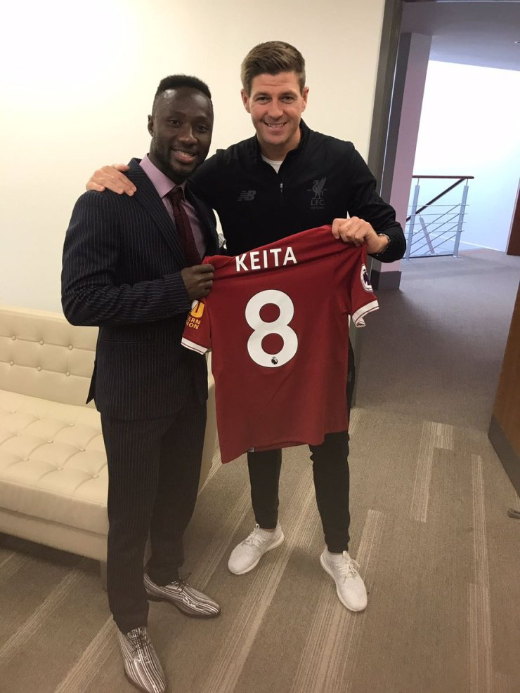 Official: Naby Keita Mark His Arrivial With Famous Gerrard No 8 Jersey 4