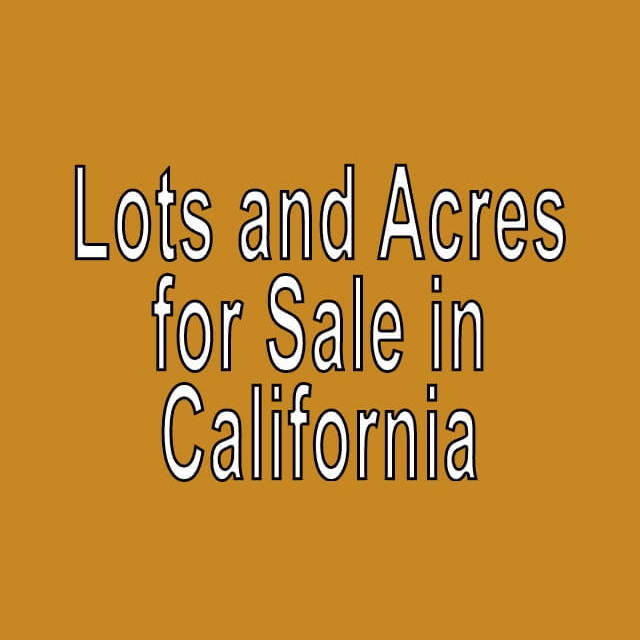 Buy Cheap Land in California