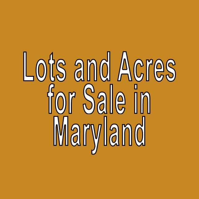Buy Cheap Land in Maryland