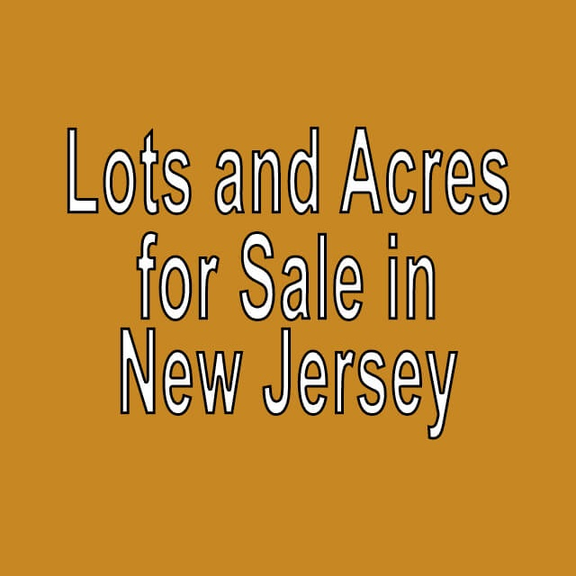 Buy Cheap Land in New Jersey