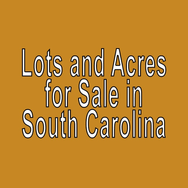 Buy Cheap Land in South Carolina
