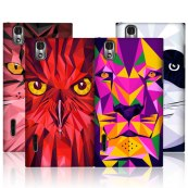 back case animal abstract design