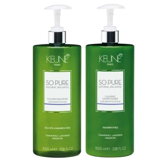Keune So Pure Calming Shampoo&Conditioner 1 Litre with Pumps