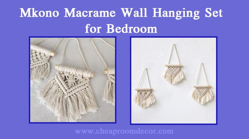 Mkono Macrame Wall Hanging Set for Bedroom Decorative Items For Bedroom Walls