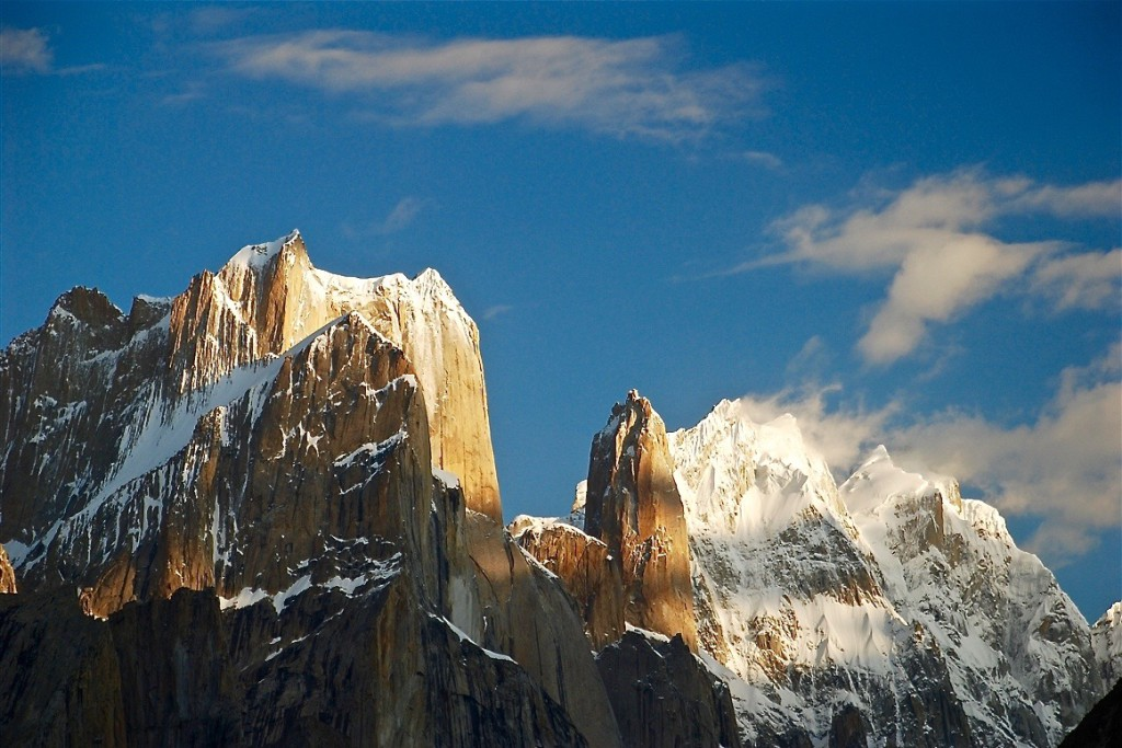 The colossal Trango Towers