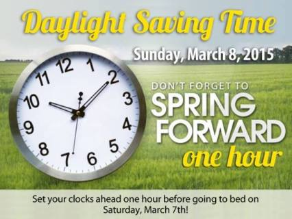 Daylight Saving Times 2015