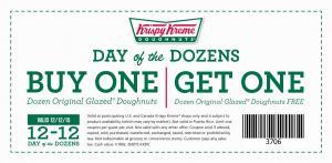 BOGO Krispy Kreme