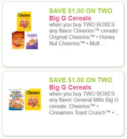 Big G Cereal Coupons - 2