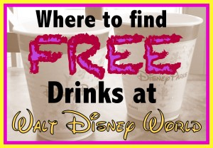 how to get free drinks at Disney World, where to get free drinks at Disney World