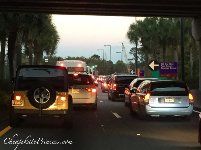 Disney World traffic at Christmas