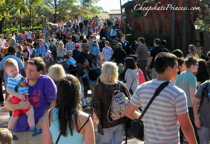 how crazy is it at Disney World during Christmas break
