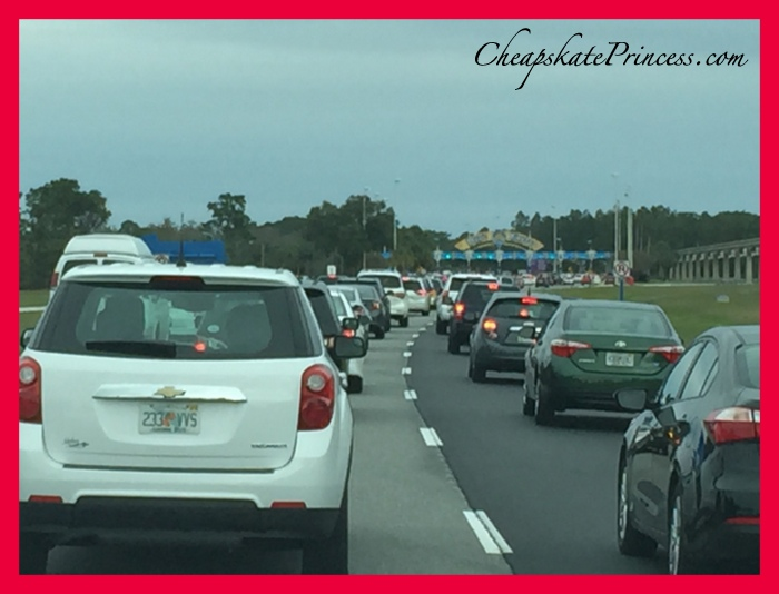 Christmas traffic at Disney World is crazy