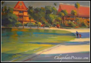 Polynesian Resort, paintings of Disney World, Disney World resort paintings, Disney store paintings, Disney paint,