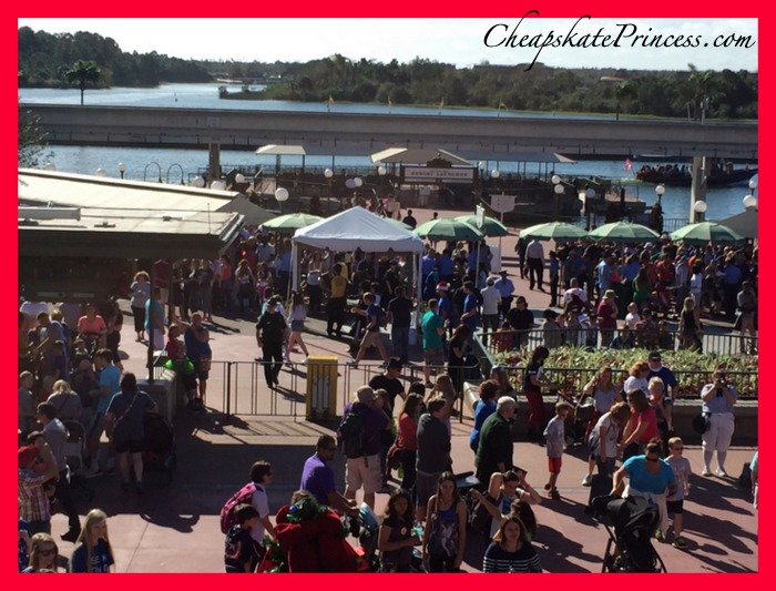 Walking in Magic Kingdom at Christmas is busy, especially in the morning.