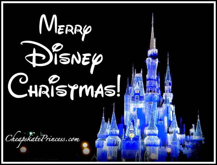 Disney Christmas card, Magic Kingdom Christmas card, Merry Christmas, Merry Disney World Christmas