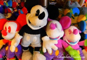 Black and white Mickey Mouse doll, colored Mickey dolls, Mickey Mouse toys, Disney princess toys, toys kids like, what do kids buy at Disney