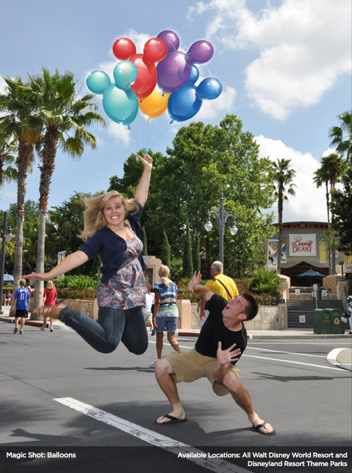 Disney photopass balloons, Disney balloons, Photopass sample, how Disney adds magic in photos, cool Disney photos, Disney photoshop photos
