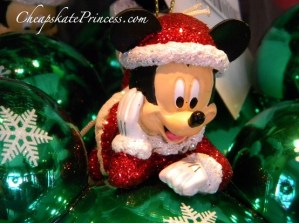 Mickey Mouse Christmas ornament, Disney holiday ornament, Santa Mickey, Mickey Mouse Santa Clause