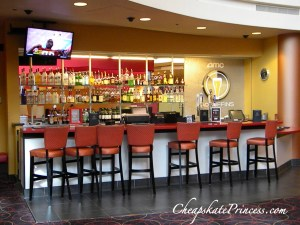 buy an alcoholic drink at a movie theater, bar at AMC Theater 24, bar at movie theater, Downtown Disney bar, but drinks at Downtown Disney, can you drink in a movie theater