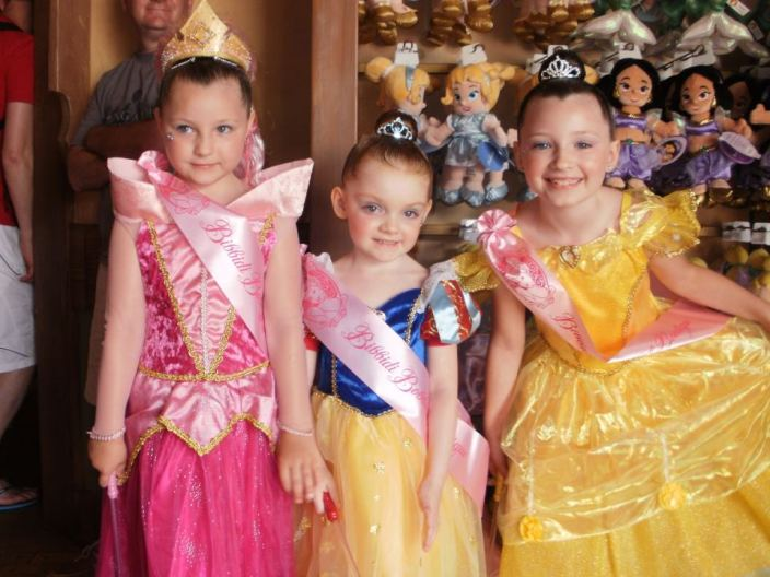 Disney princesses at the Bobbidi Bobbidi Boutique