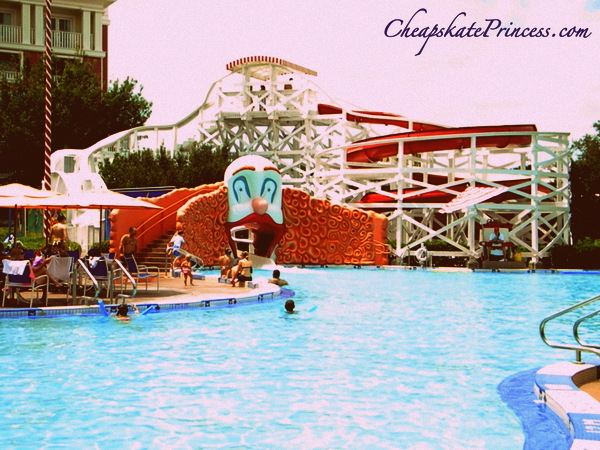 pool hopping at the Boardwalk Resort Pool at Walt Disney World